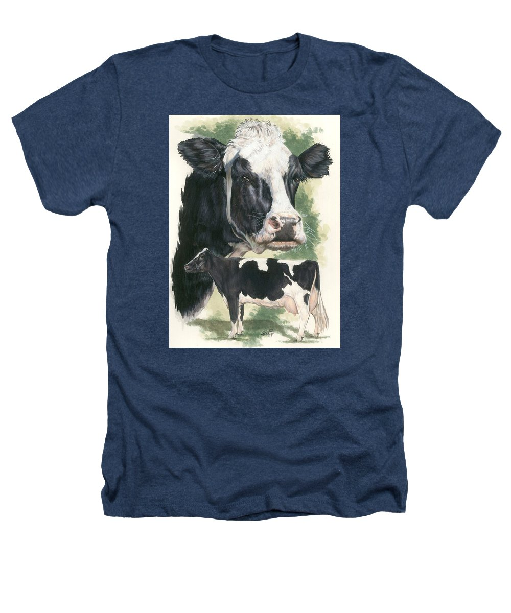 Cow Heathers T-Shirt featuring the mixed media Holstein by Barbara Keith