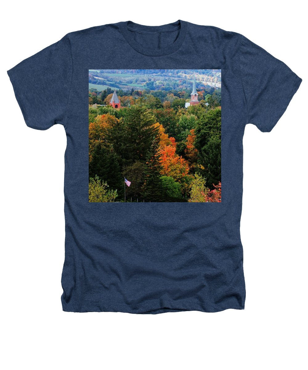 Landscape Heathers T-Shirt featuring the photograph Homer Ny by David Lane