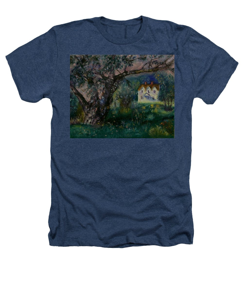 Landscape Heathers T-Shirt featuring the painting Homestead by Stephen King