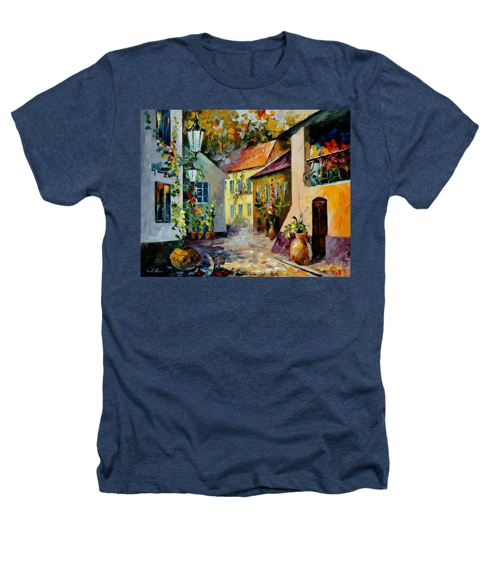 Landscape Heathers T-Shirt featuring the painting Hot Noon Original Oil Painting by Leonid Afremov