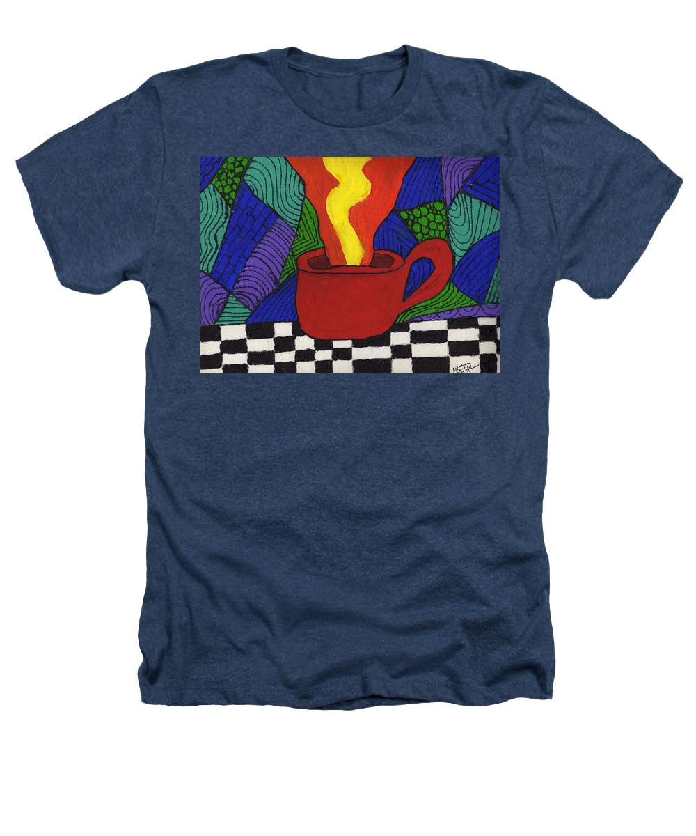 Tea Heathers T-Shirt featuring the painting Hot Spot Of T by Wayne Potrafka