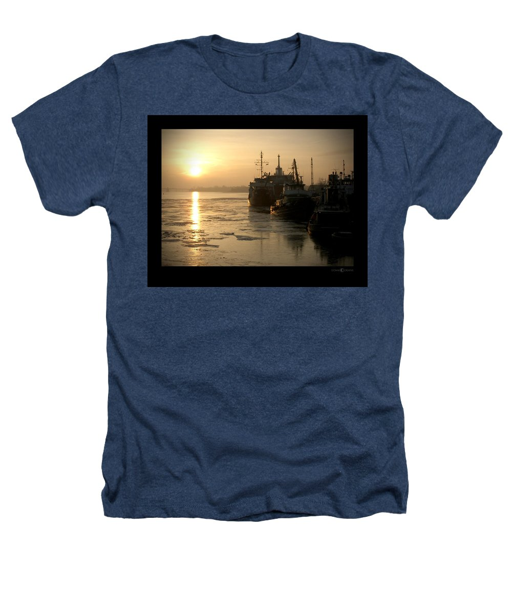 Boat Heathers T-Shirt featuring the photograph Huddled Boats by Tim Nyberg