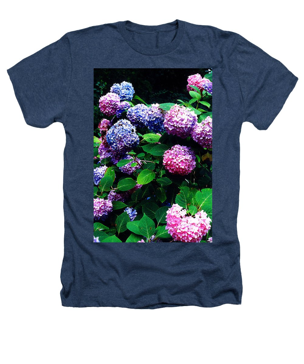 Flowers Heathers T-Shirt featuring the photograph Hydrangeas by Nancy Mueller