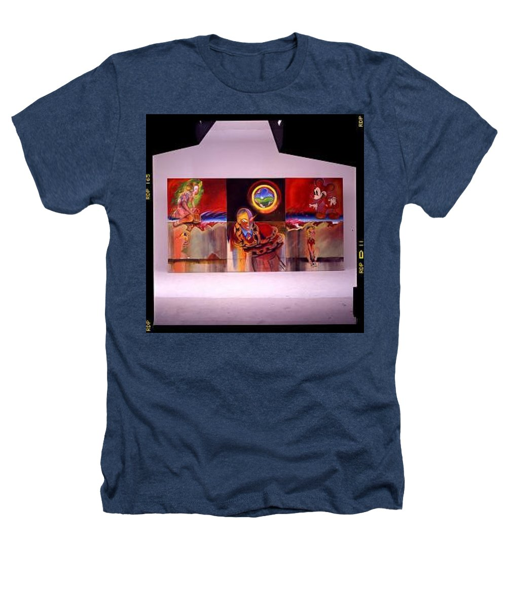 Spiderman Heathers T-Shirt featuring the painting I Saw The Figure Five In Gold by Charles Stuart