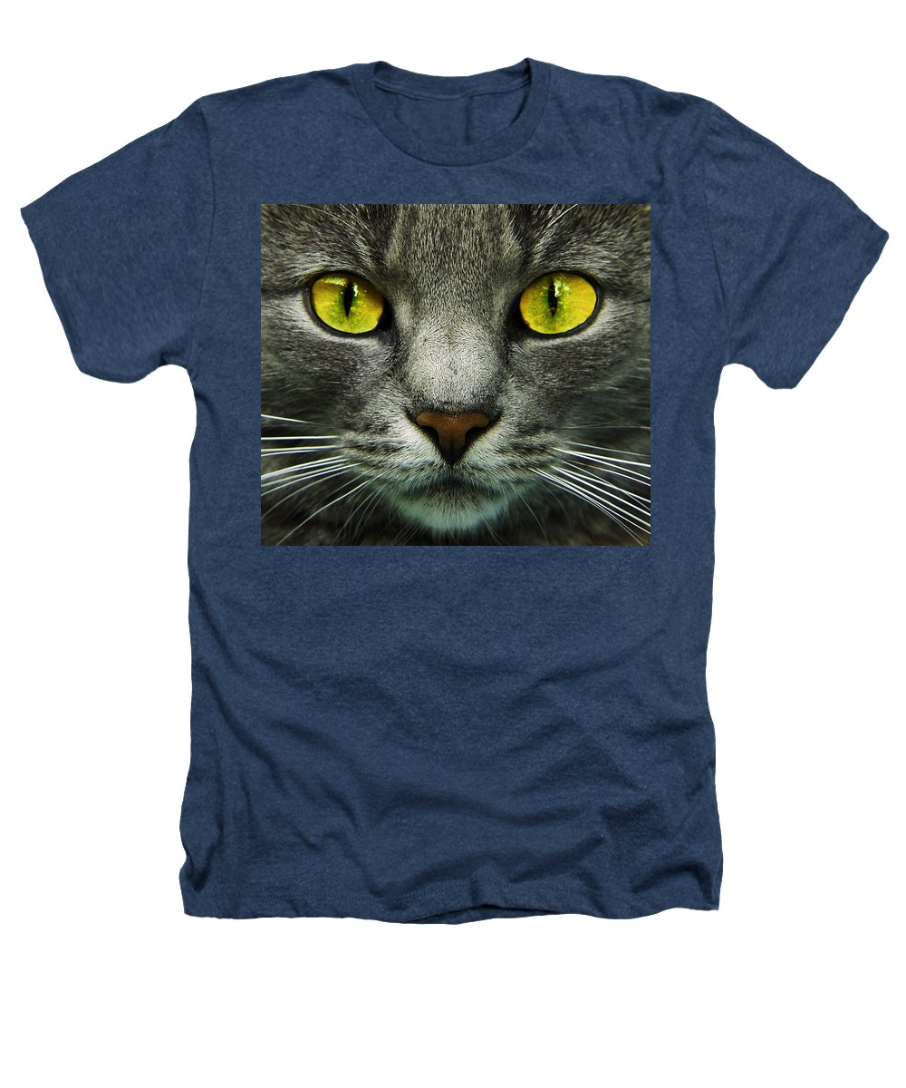 Cats Heathers T-Shirt featuring the photograph I.c.u. by Joachim G Pinkawa