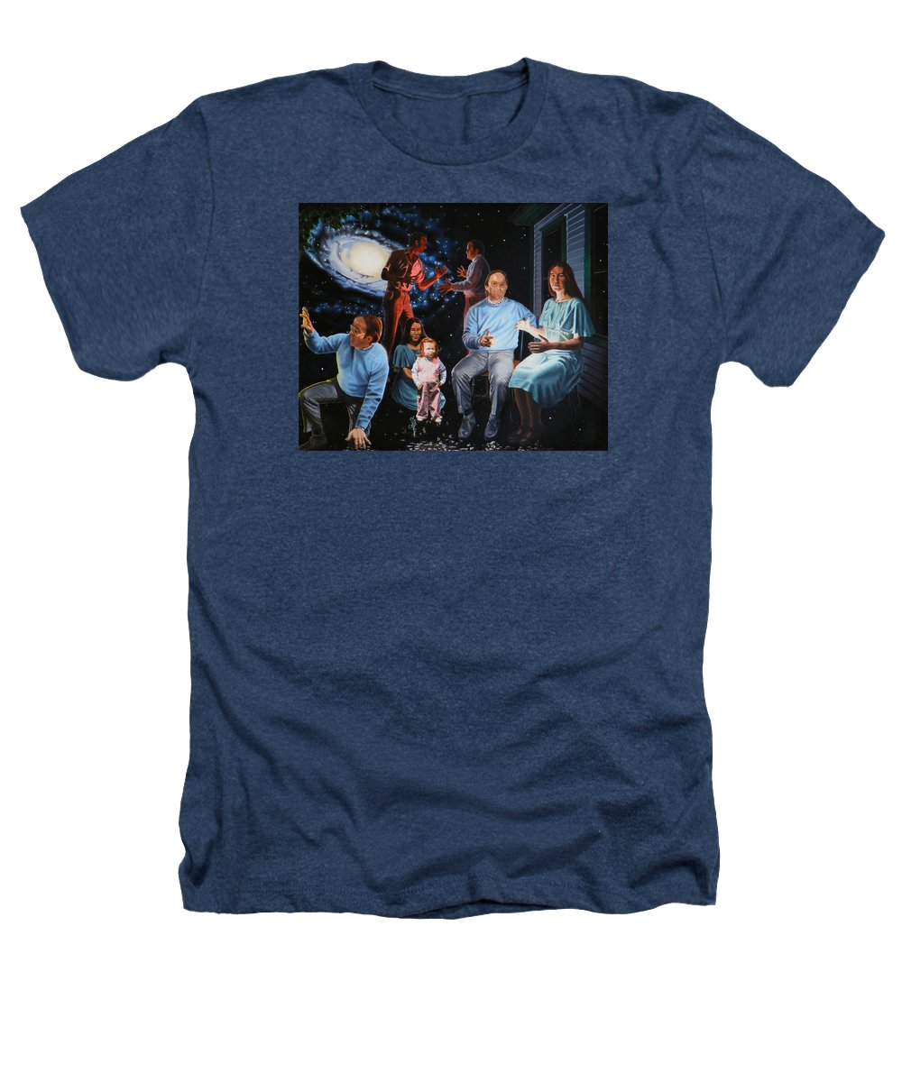 Surreal Heathers T-Shirt featuring the painting Illumination Beyond Ursa Major by Dave Martsolf