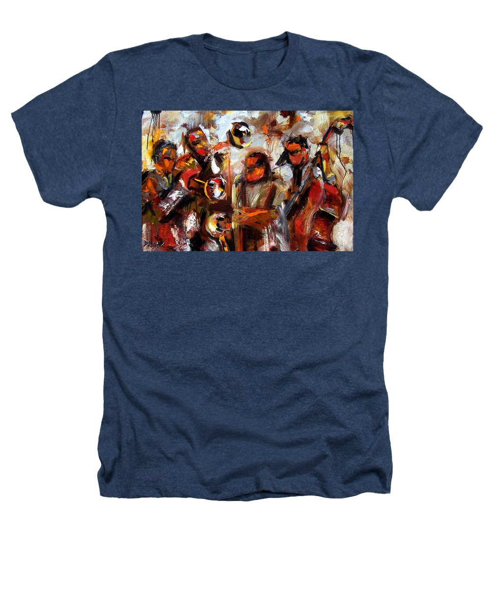 Jazz Art Heathers T-Shirt featuring the painting In The Moment by Debra Hurd