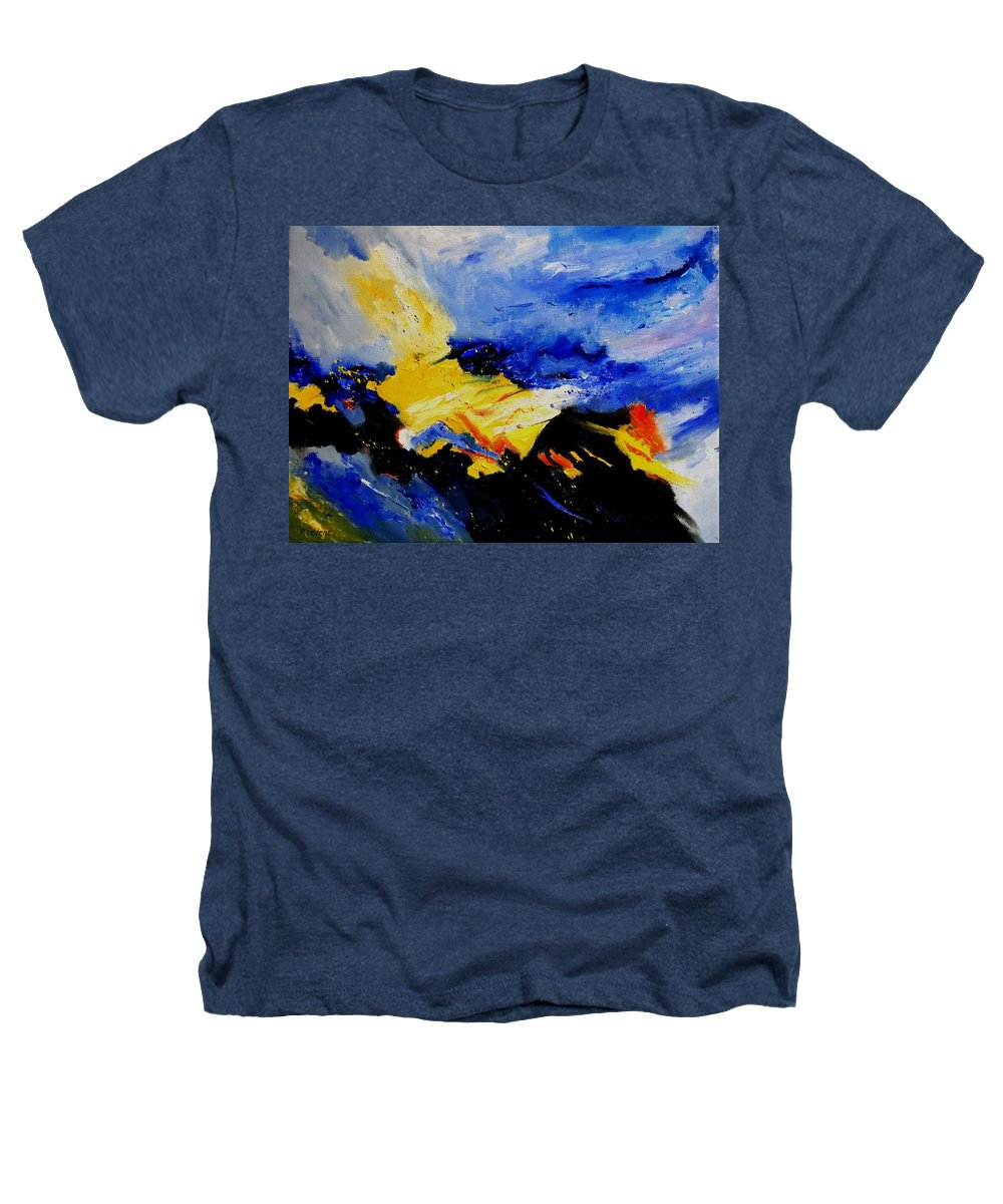 Abstract Heathers T-Shirt featuring the painting Interstellar Overdrive 2 by Pol Ledent