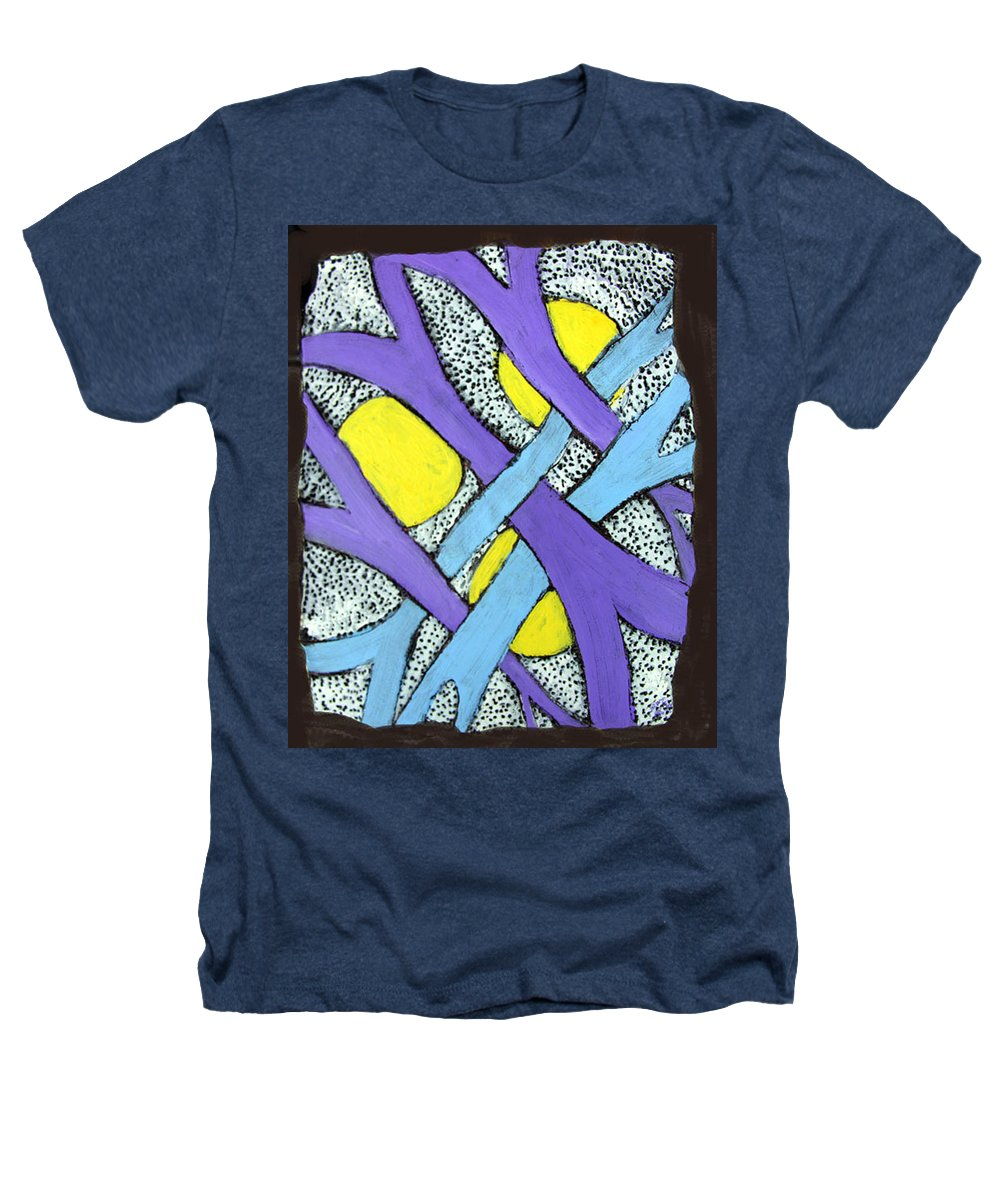Abstract Heathers T-Shirt featuring the painting Intertwined by Wayne Potrafka