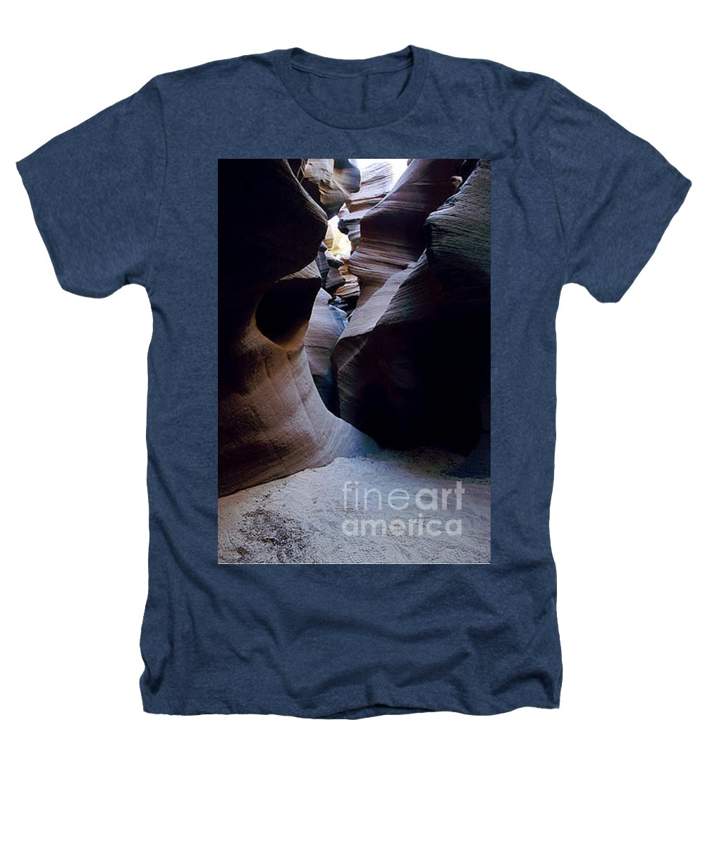 Slot Canyons Heathers T-Shirt featuring the photograph Into The Depths by Kathy McClure
