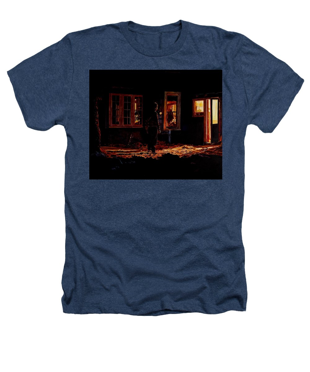 Night Heathers T-Shirt featuring the painting Into The Night by Valerie Patterson
