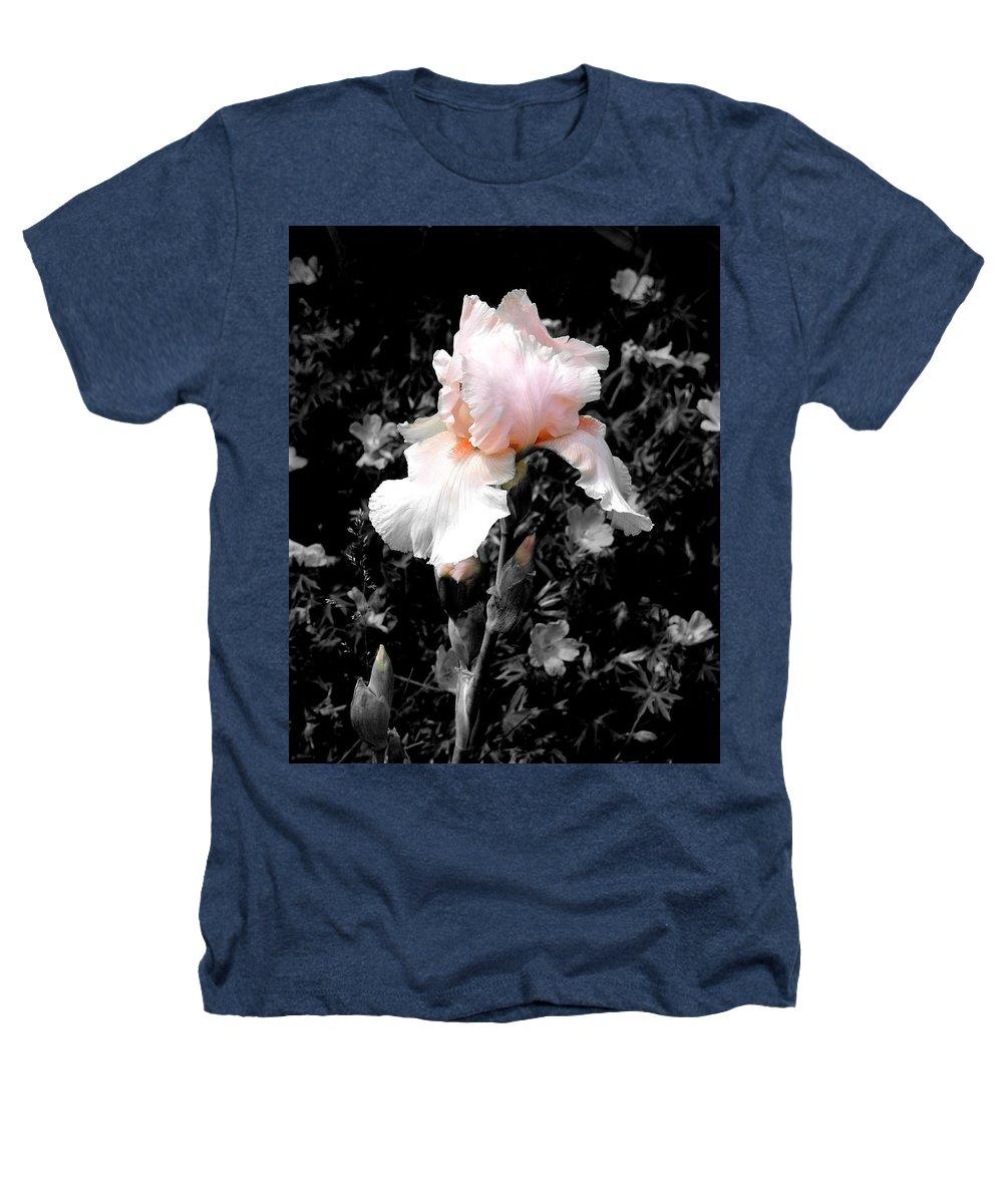 Flower Heathers T-Shirt featuring the photograph Iris Emergance by Steve Karol