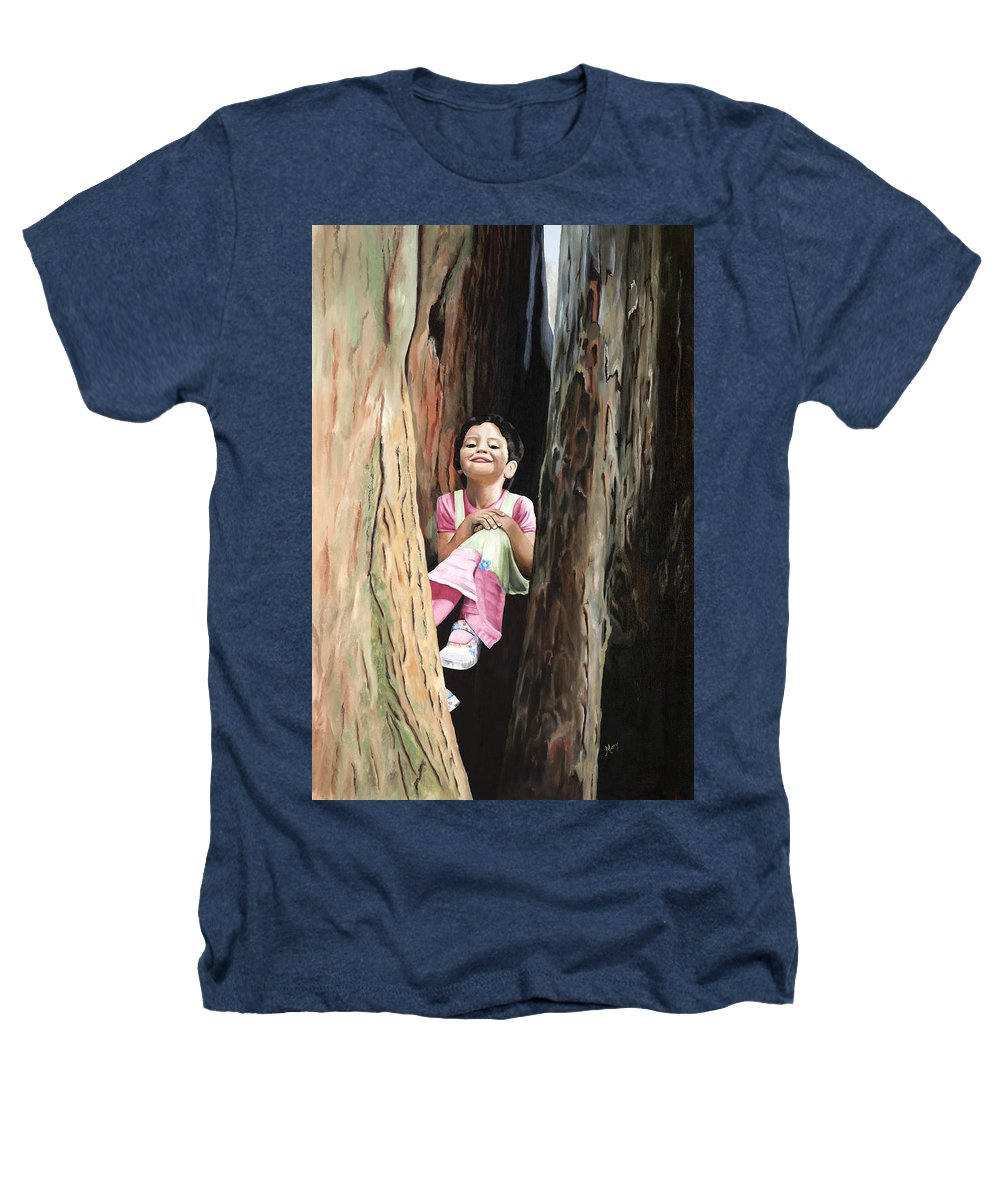 Girl Heathers T-Shirt featuring the painting Isabella Of Kilkenny by Mary Rogers