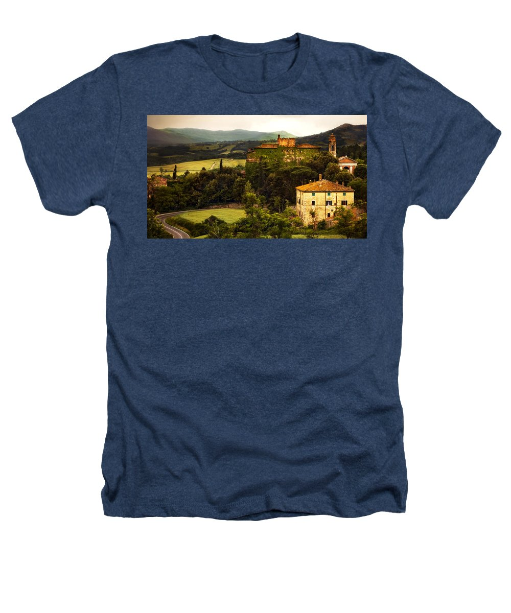 Italy Heathers T-Shirt featuring the photograph Italian Castle And Landscape by Marilyn Hunt