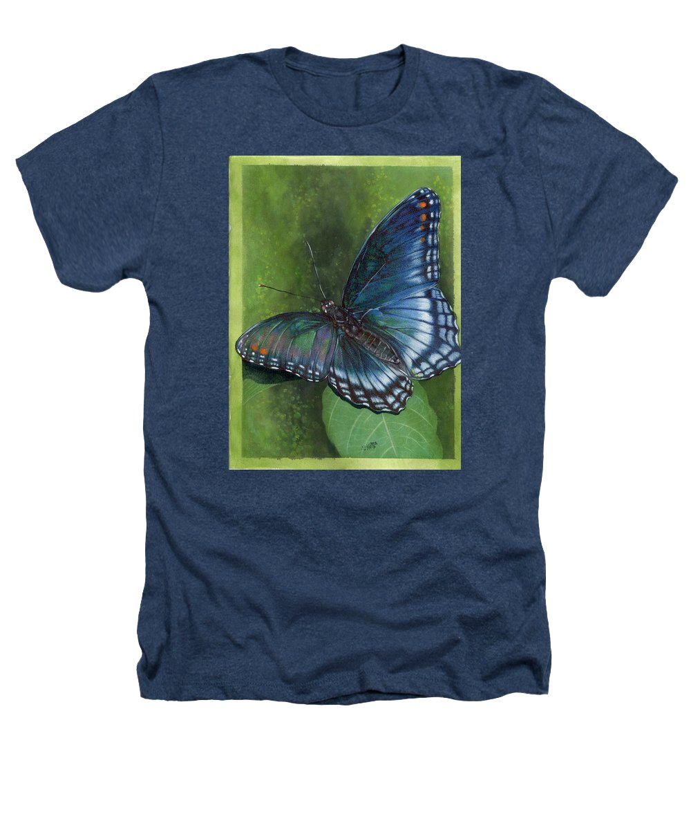 Insects Heathers T-Shirt featuring the mixed media Jewel Tones by Barbara Keith