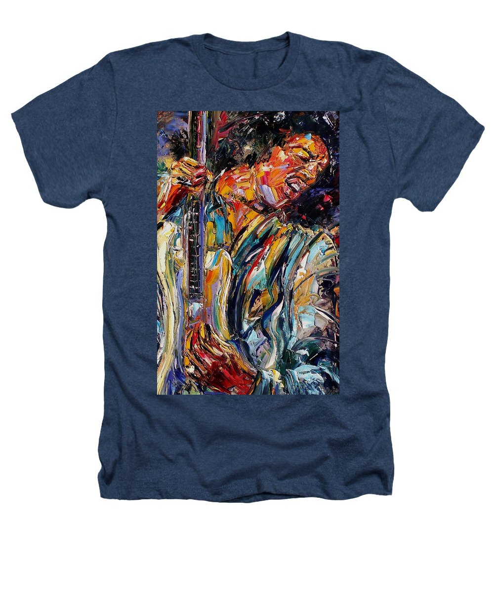 Jimi Hendrix Painting Heathers T-Shirt featuring the painting Jimi Hendrix by Debra Hurd