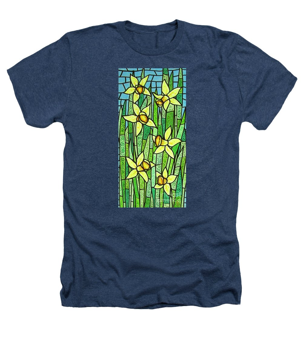Jonquils Heathers T-Shirt featuring the painting Jonquil Glory by Jim Harris