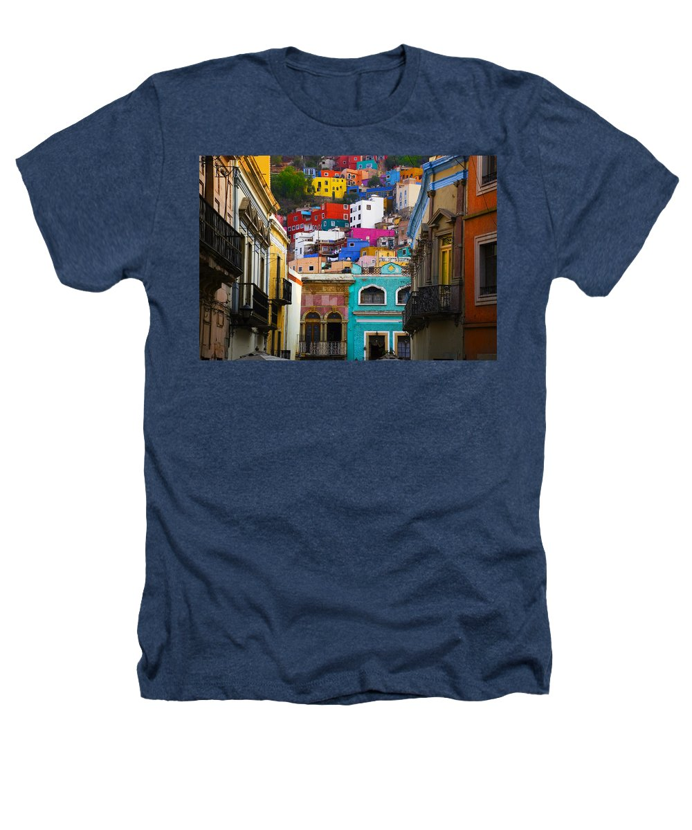 Architecture Heathers T-Shirt featuring the photograph Juegos In Guanajuato by Skip Hunt