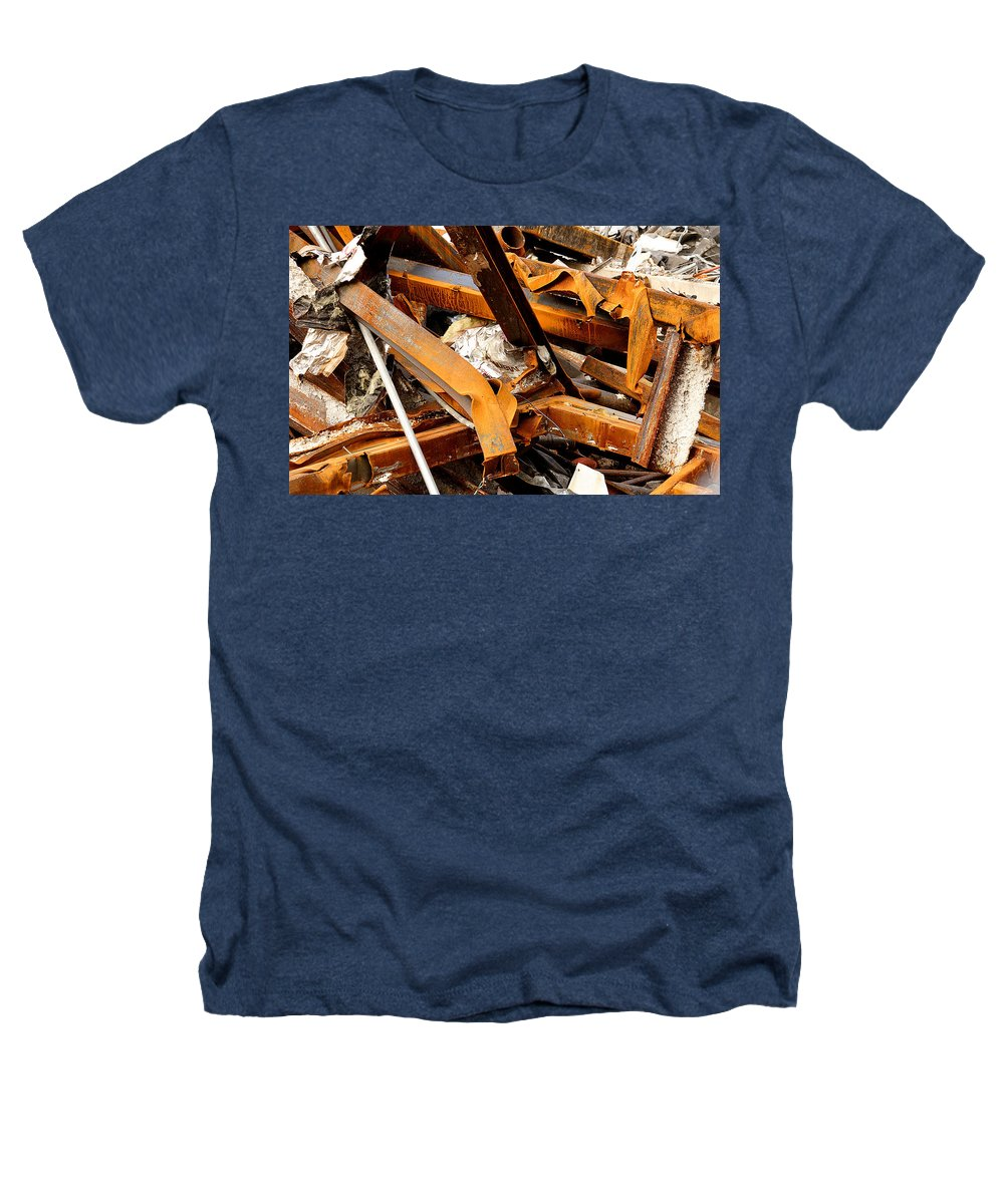 Steel Heathers T-Shirt featuring the photograph Jumbled Steel by Jean Macaluso