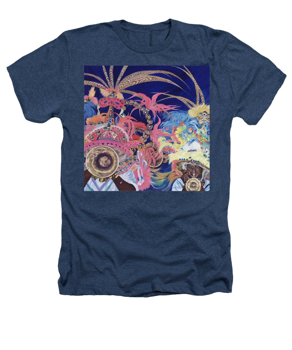 Bahamas Heathers T-Shirt featuring the painting Junkanoo by Danielle Perry