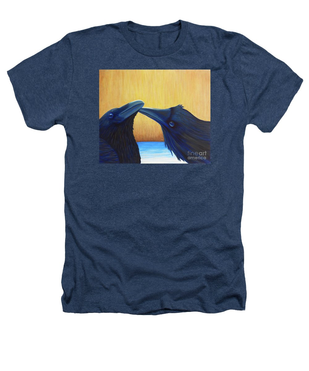 Ravens Heathers T-Shirt featuring the painting K And B by Brian Commerford