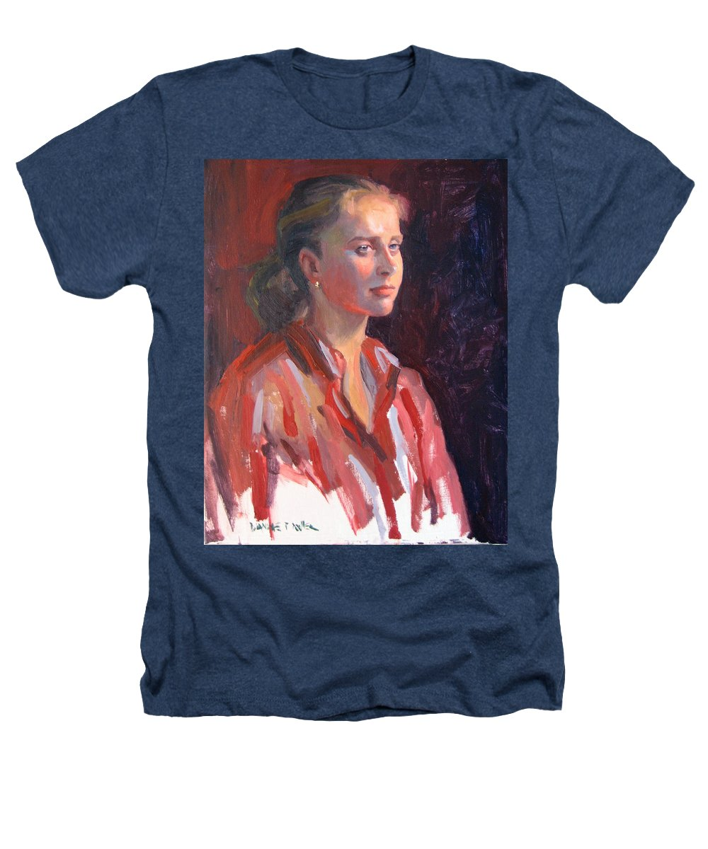 Portrait Heathers T-Shirt featuring the painting Kate by Dianne Panarelli Miller
