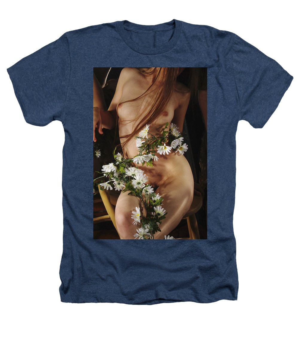 Female Nude Abstract Mirrors Flowers Photographs Heathers T-Shirt featuring the photograph Kazi1138 by Henry Butz