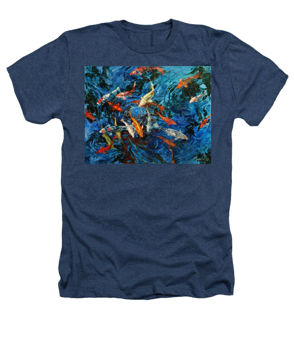 Koi Heathers T-Shirt featuring the painting Koi IIi by Rick Nederlof