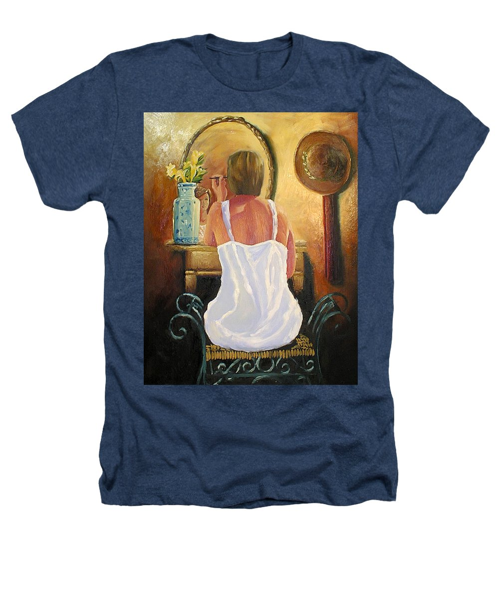 People Heathers T-Shirt featuring the painting La Coqueta by Arturo Vilmenay