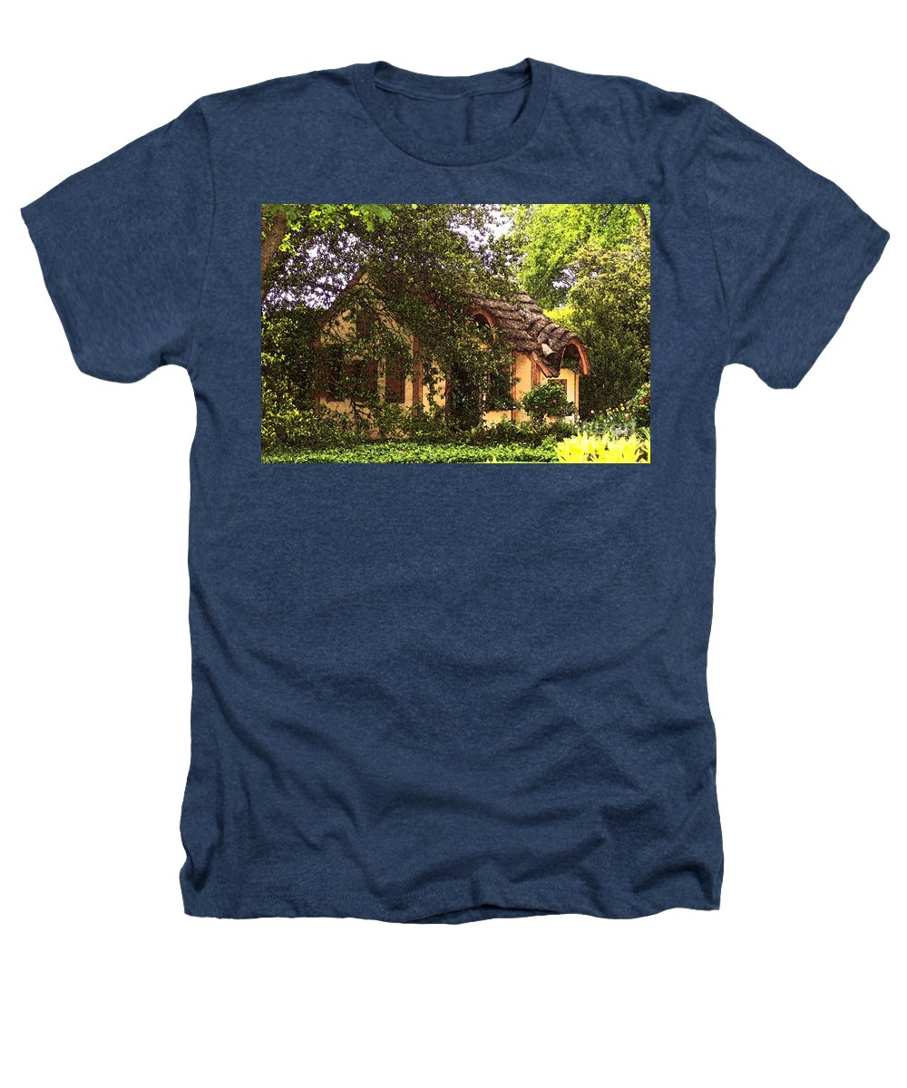 Cottage Heathers T-Shirt featuring the photograph La Maison by Debbi Granruth