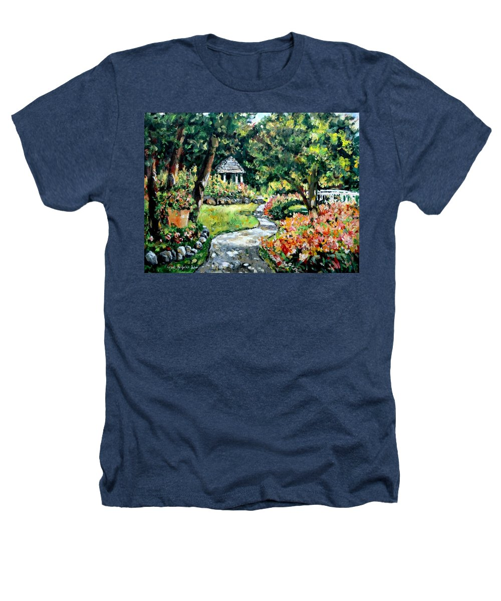 Landscape Heathers T-Shirt featuring the painting La Paloma Gardens by Alexandra Maria Ethlyn Cheshire