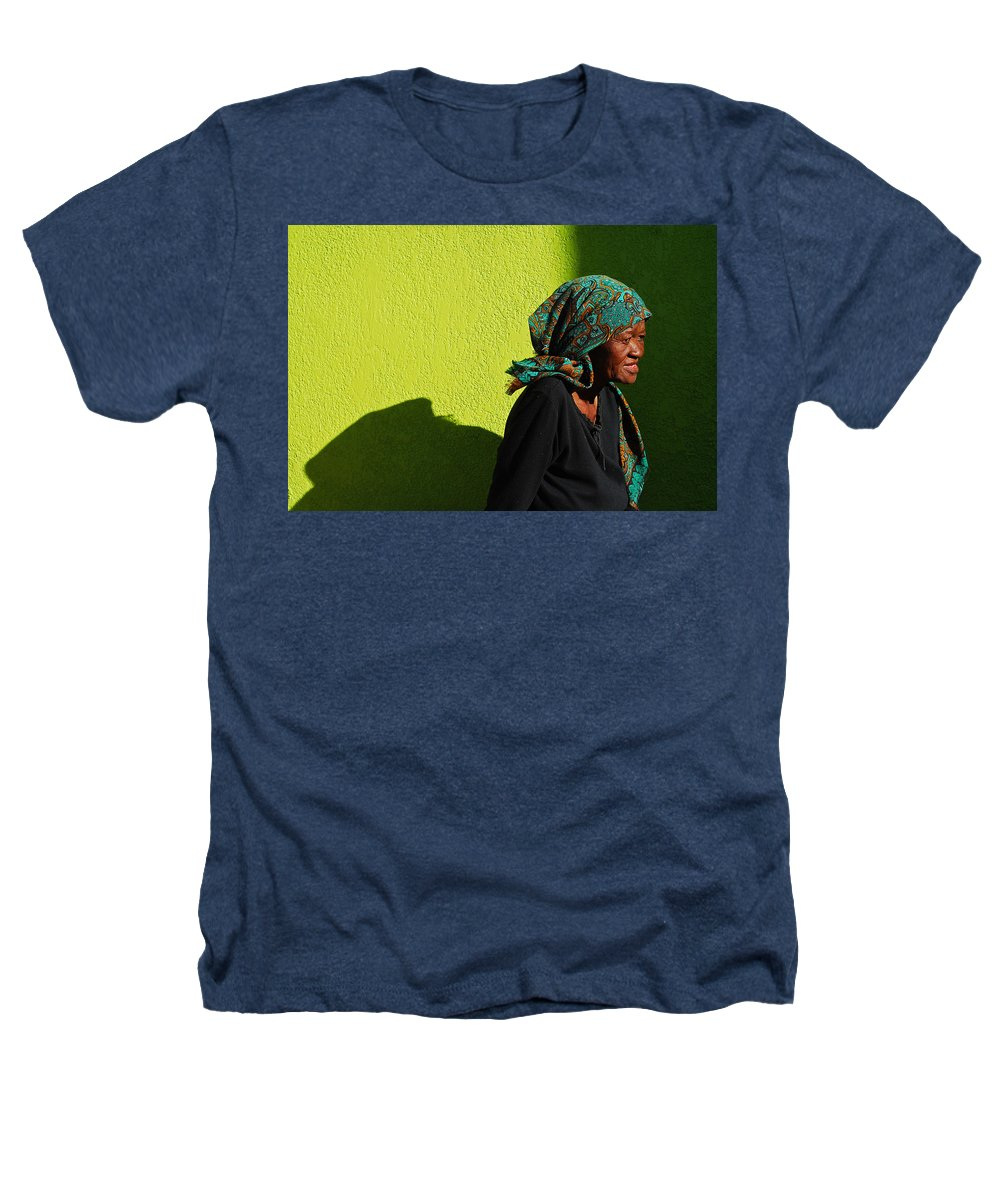 Africa Heathers T-Shirt featuring the photograph Lady In Green by Skip Hunt