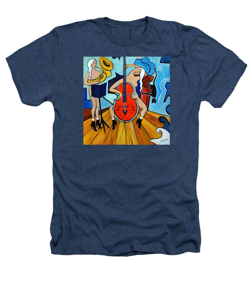 Musicians Heathers T-Shirt featuring the painting Lady In Red by Valerie Vescovi
