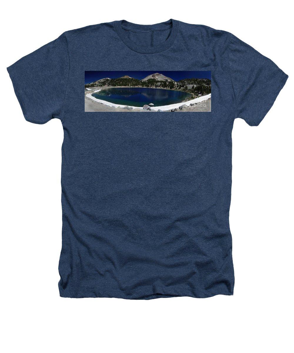 Mirror Heathers T-Shirt featuring the photograph Lake Helen Lassen by Peter Piatt