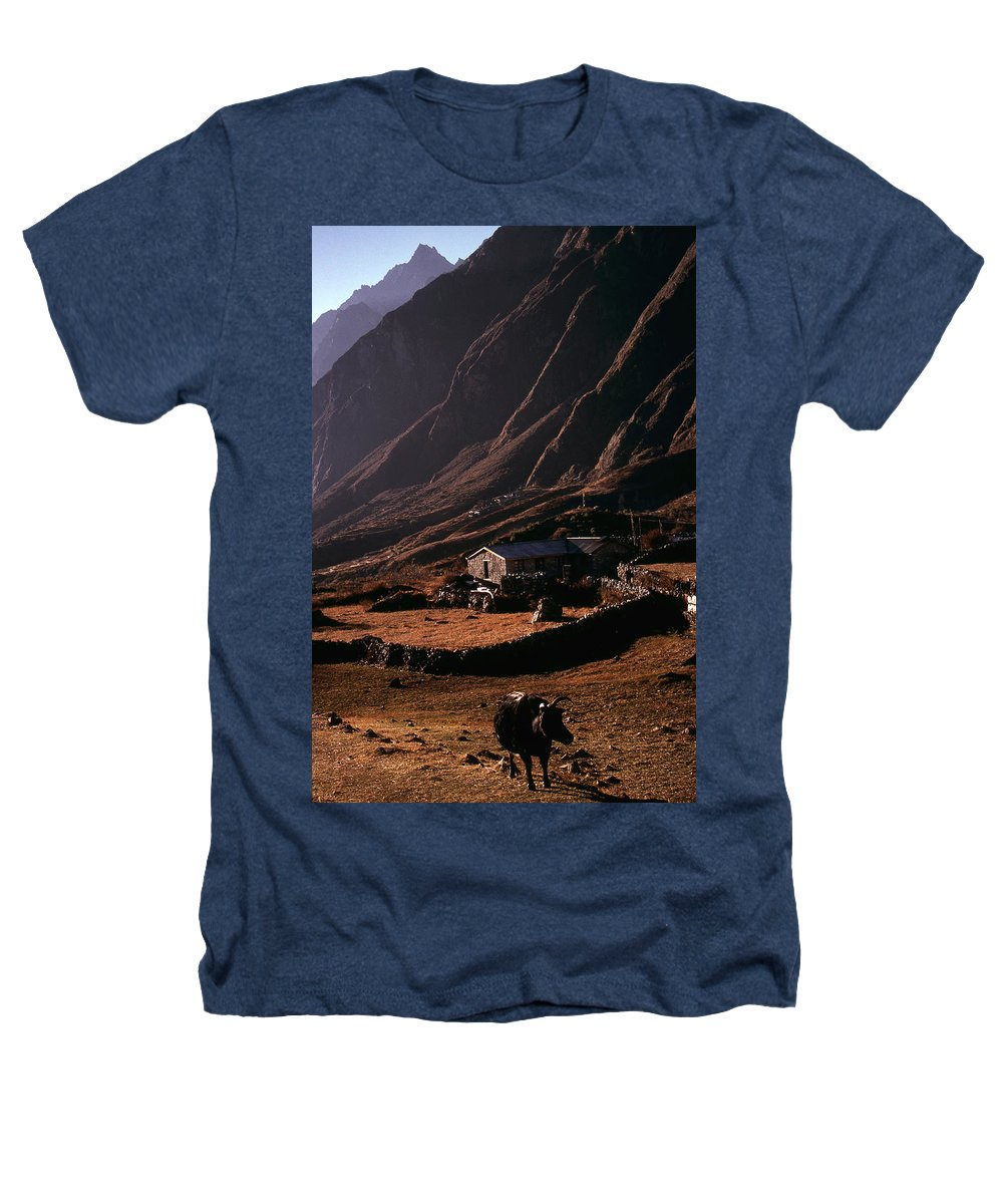Langtang Heathers T-Shirt featuring the photograph Langtang Village by Patrick Klauss