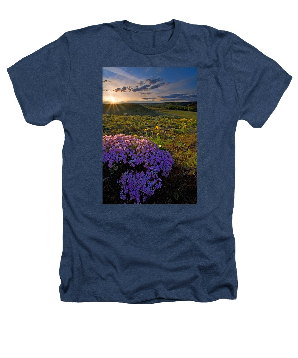 Wildflowers Heathers T-Shirt featuring the photograph Last Light Of Spring by Mike Dawson