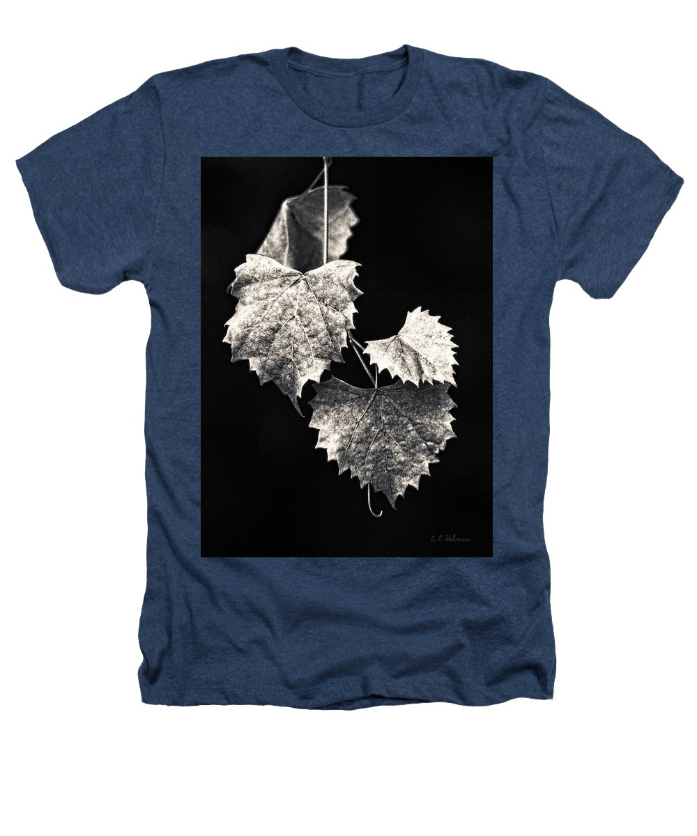 B&w Heathers T-Shirt featuring the photograph Leaves by Christopher Holmes
