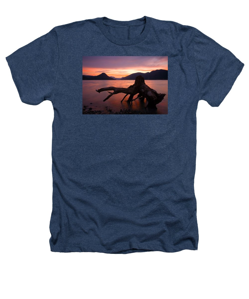 Stump Heathers T-Shirt featuring the photograph Left Behind by Mike Dawson