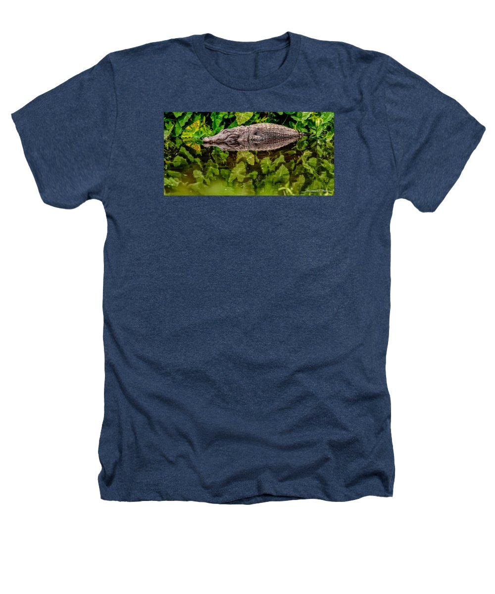 Alligator Heathers T-Shirt featuring the photograph Let Sleeping Gators Lie by Christopher Holmes