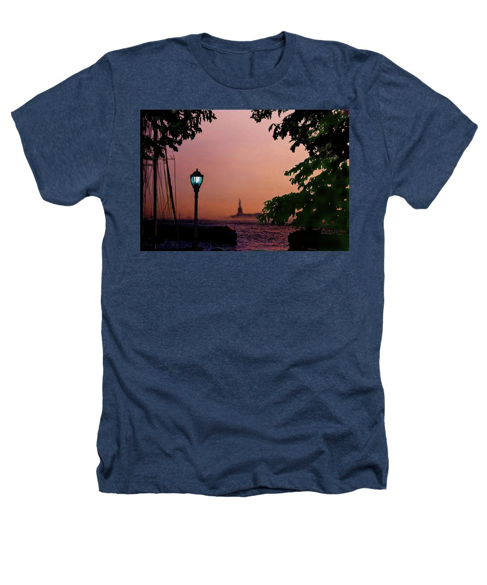 Seascape Heathers T-Shirt featuring the digital art Liberty Fading Seascape by Steve Karol