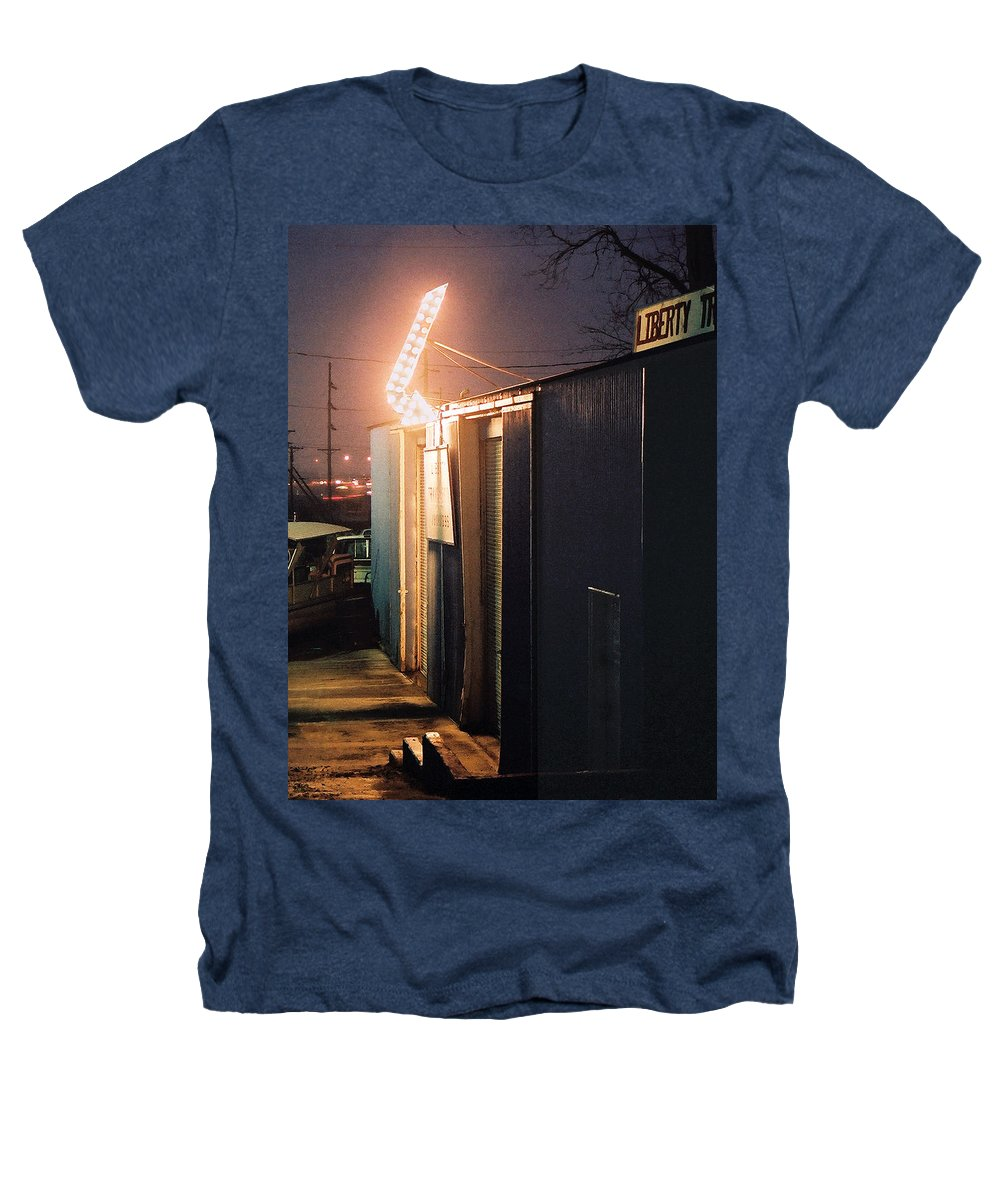 Night Scene Heathers T-Shirt featuring the photograph Liberty by Steve Karol