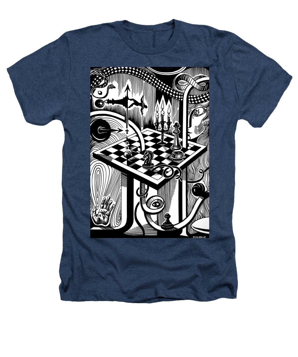 Inga Vereshchagina Heathers T-Shirt featuring the drawing Life Game by Inga Vereshchagina