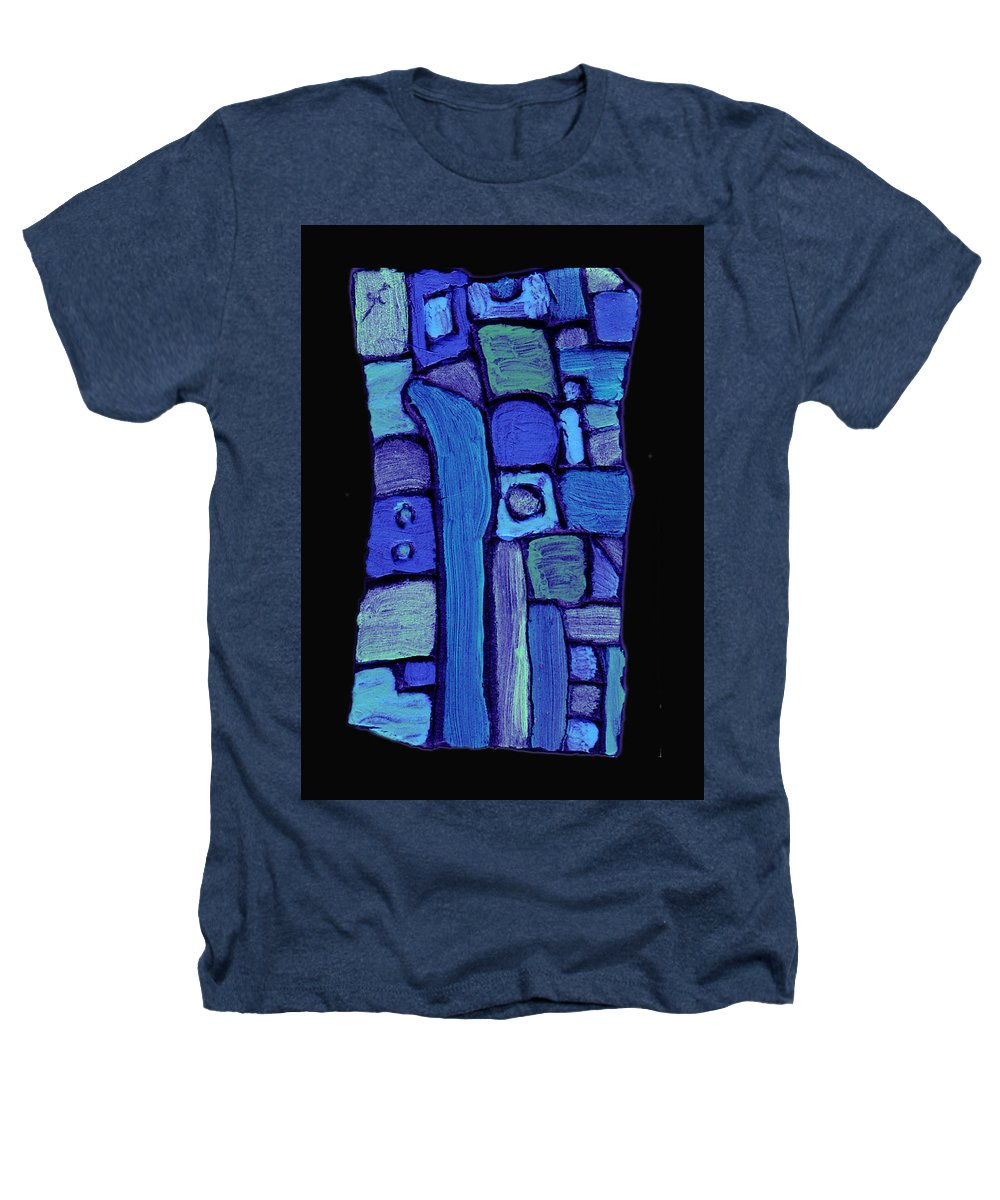 Abstract Heathers T-Shirt featuring the painting Life In The Pond by Wayne Potrafka