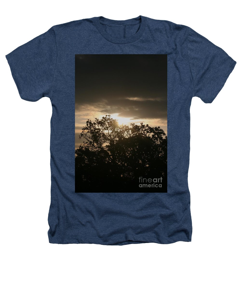 Light Heathers T-Shirt featuring the photograph Light Chasing Away The Darkness by Nadine Rippelmeyer