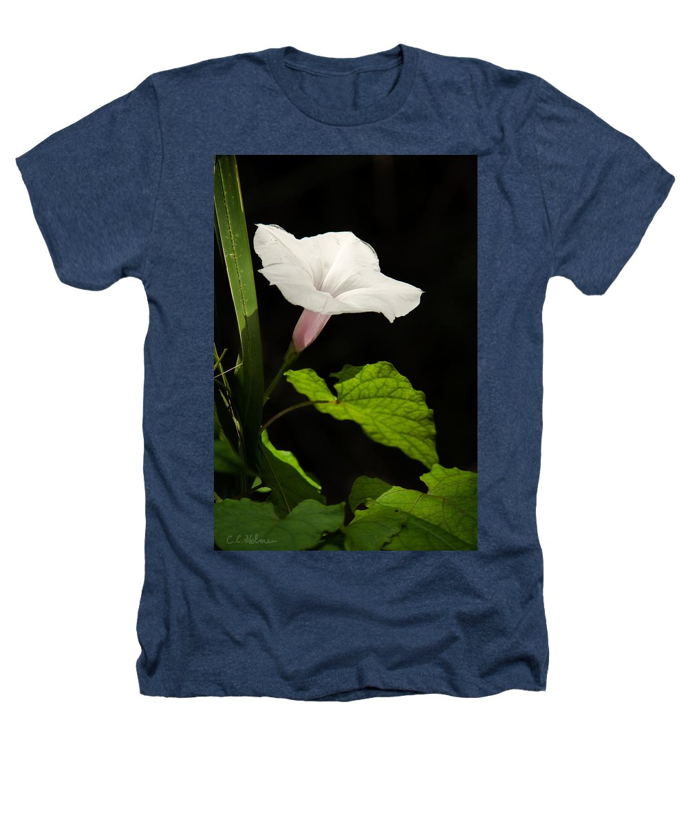 Flower Heathers T-Shirt featuring the photograph Light Out Of The Dark by Christopher Holmes
