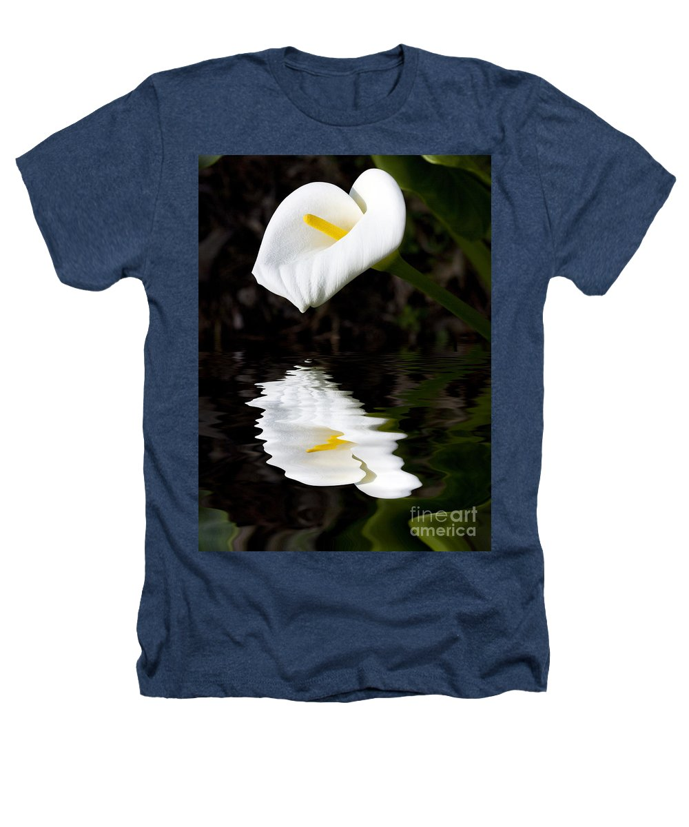 Lily Reflection Flora Flower Heathers T-Shirt featuring the photograph Lily Reflection by Avalon Fine Art Photography