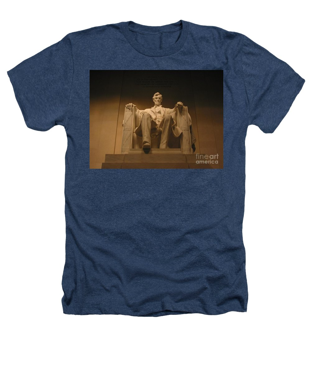 Abraham Lincoln Heathers T-Shirt featuring the photograph Lincoln Memorial by Brian McDunn