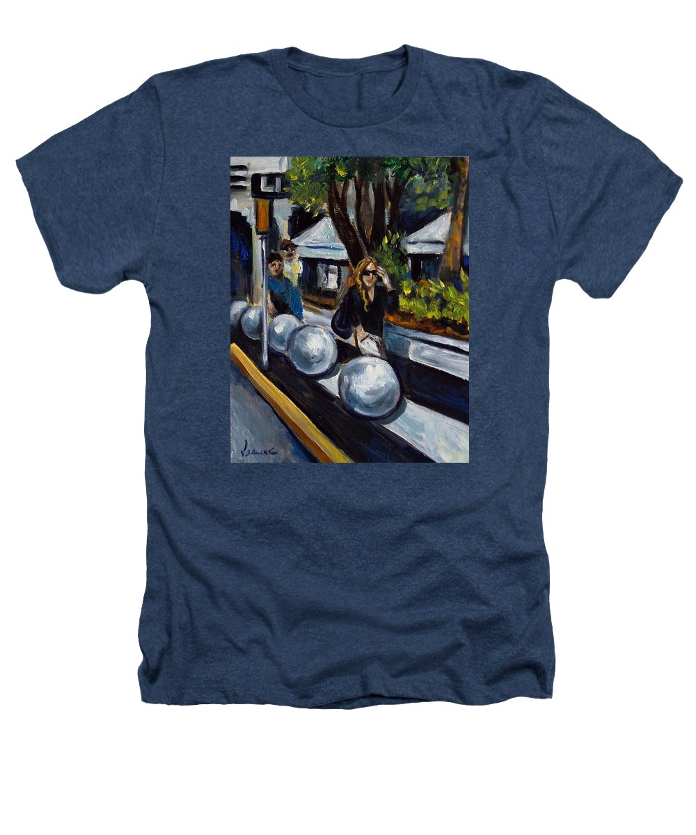 Shopping Heathers T-Shirt featuring the painting Lincoln Road by Valerie Vescovi