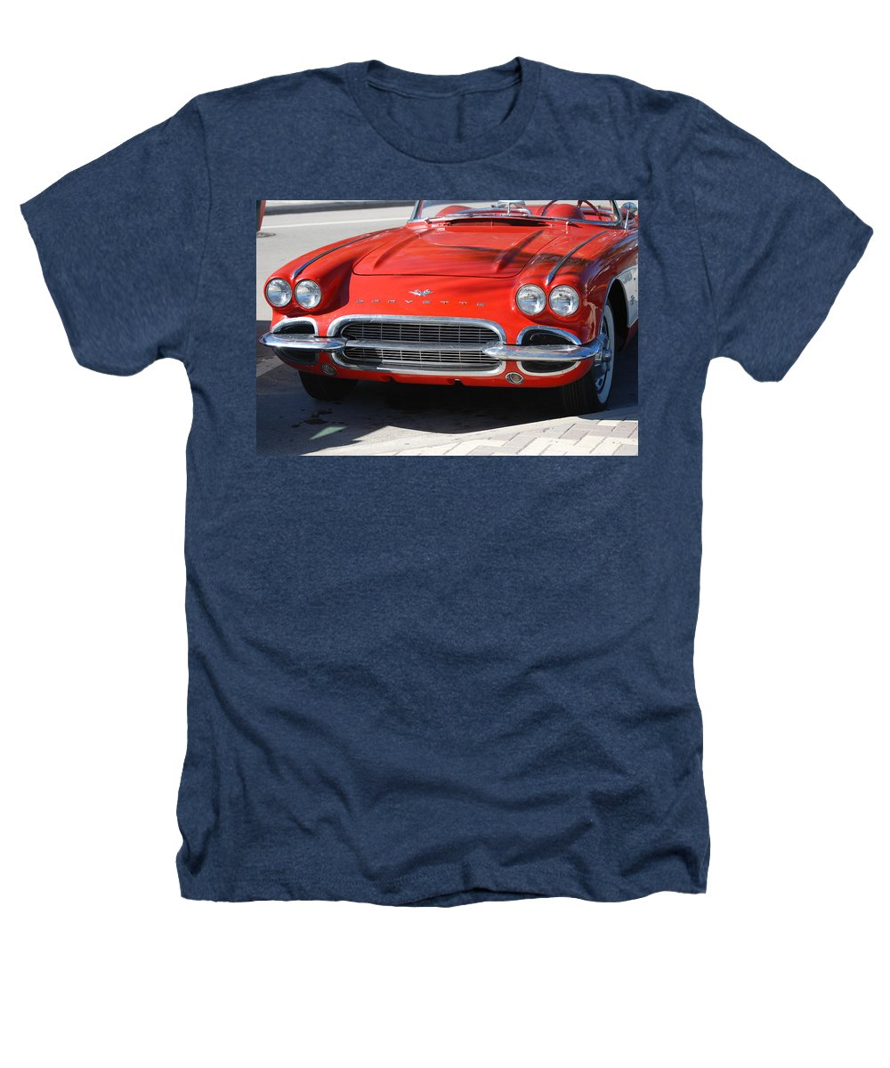 Corvette Heathers T-Shirt featuring the photograph Little Red Corvette by Rob Hans