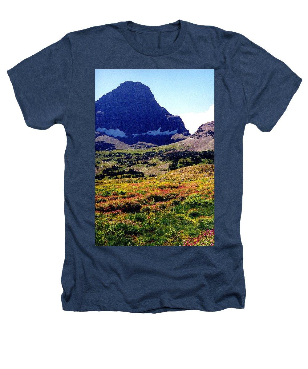 Glacier National Park Heathers T-Shirt featuring the photograph Logans Pass In Glacier National Park by Nancy Mueller